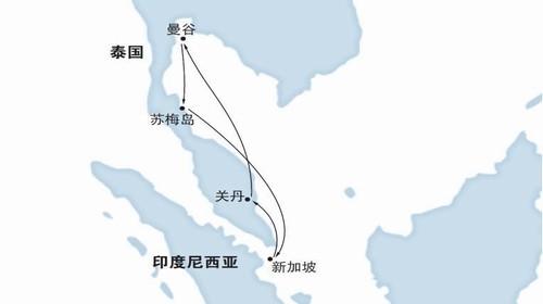 """船票歌诗达邮轮""""经典号""""新加坡 关丹 曼谷 苏梅岛8日船票(新加坡港"""