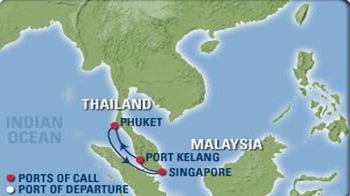 """皇家加勒比邮轮""""海洋航行者号""""新加坡+吉隆坡+普吉岛"""